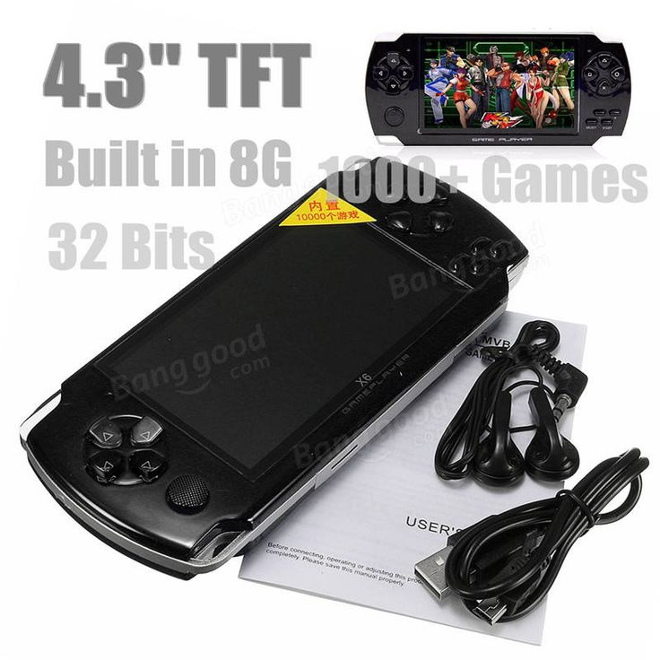 4.3'' Screen 8G 32 Bit Portable Handheld Game Console Player 10000+ Retro Games