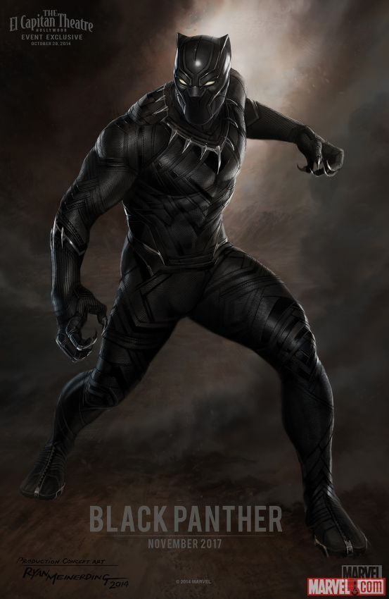 Marvel Studios Announces Full Phase 3 Slate at Special Event | News | Marvel.com. Black Panther concept art by Ryan Meinerding