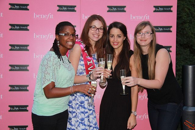 A few of our pink carpet moments #moviesandmakeup