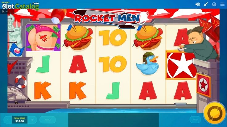 Kim's little game screen . Rocket Man(Video SlotfromRed Tiger)