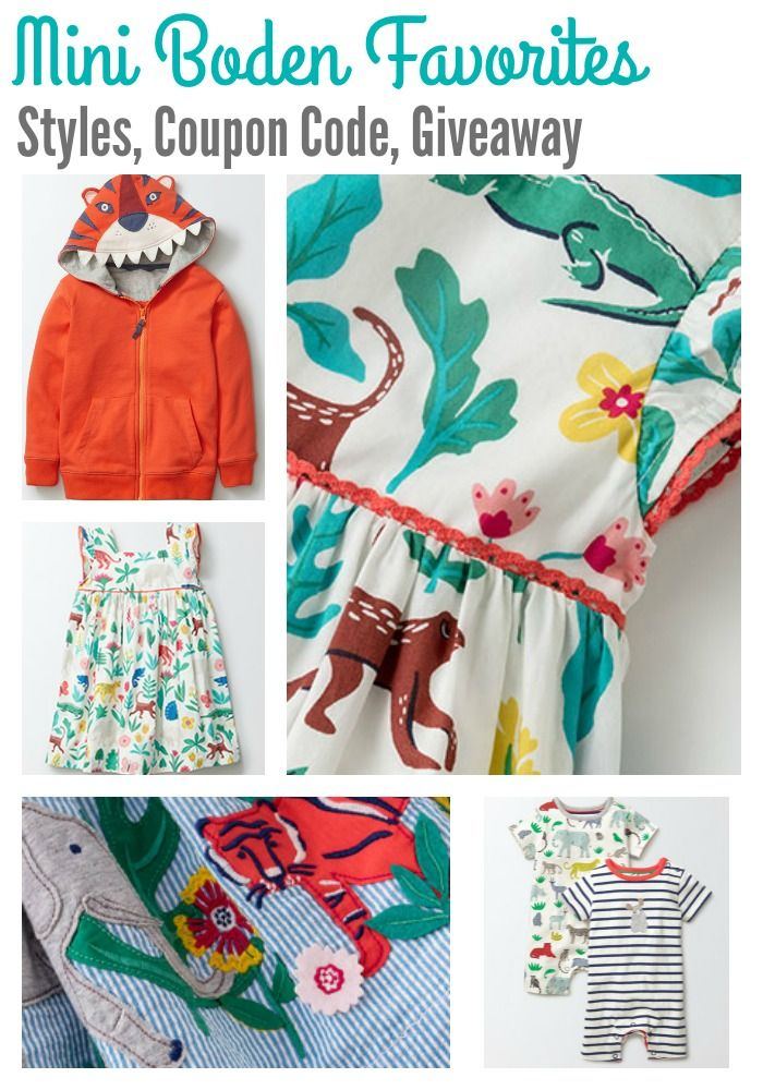 Mini Boden Coupon Code and Details on how you can enter for a chance to win a $1,000 Mini Boden shopping spree! #MiniSpiritAnimals #bodenbyme