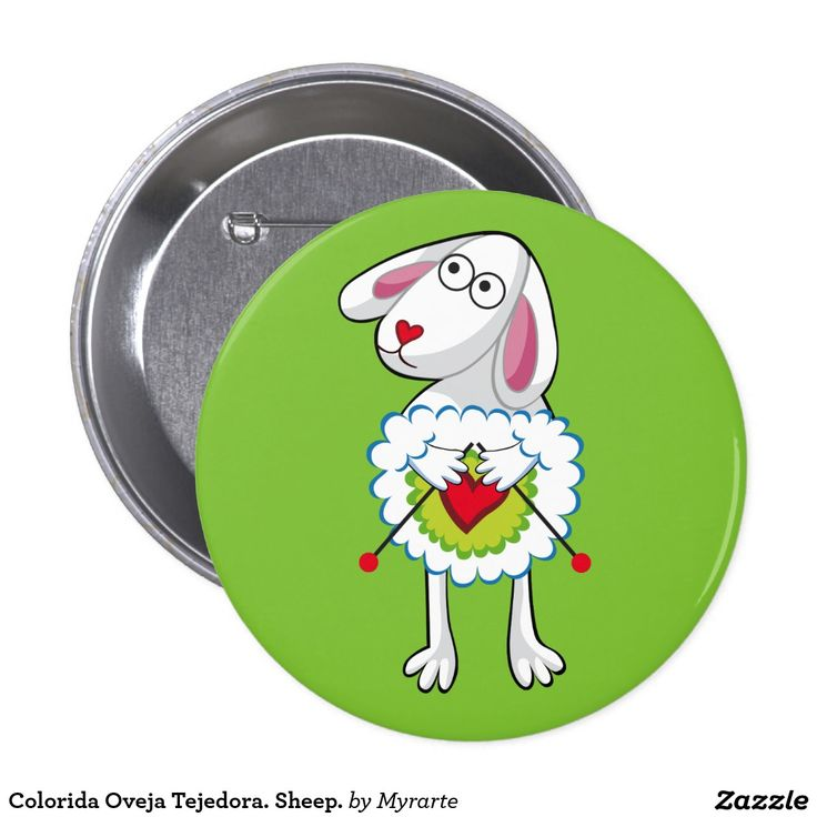 Colorida Oveja Tejedora. Sheep. Producto disponible en tienda Zazzle. Product available in Zazzle store. Regalos, Gifts. Link to product: http://www.zazzle.com/colorida_oveja_tejedora_sheep_pinback_button-145529232819431401?CMPN=shareicon&lang=en&social=true&rf=238167879144476949 #chapa #button #oveja #sheep