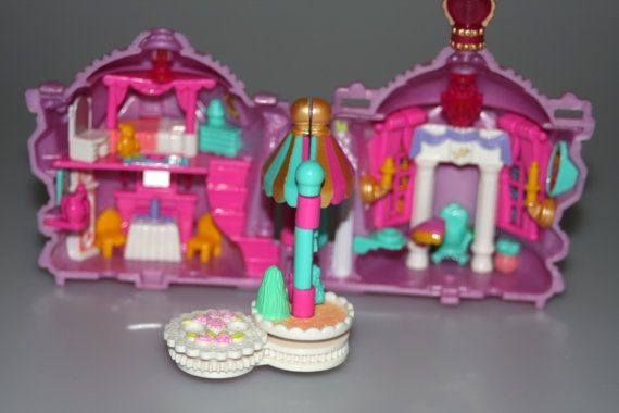 Polly Pocket Crown Palace Castle Pink Compact Bluebird Vintage 1996 by nodemo