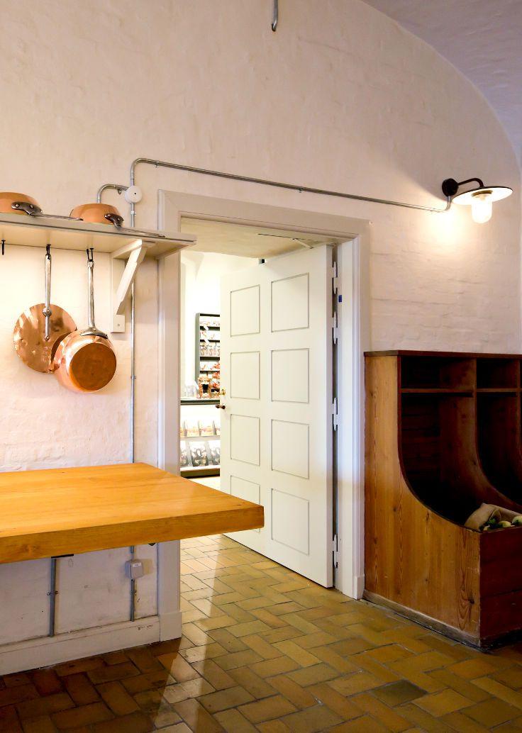 Bespoken Firedoor   Replica made from precise measure of old door by Vahle Doors   @ The royal Kopper Kitchen, Christiansborg Palace, Copenhagen