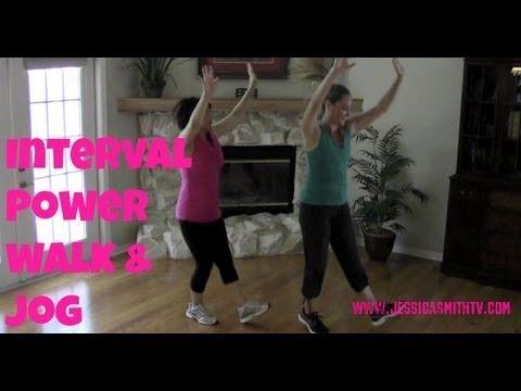 Walking Exercise - Free Full Length 30-Minute Indoor Interval Walk/Jog - YouTube