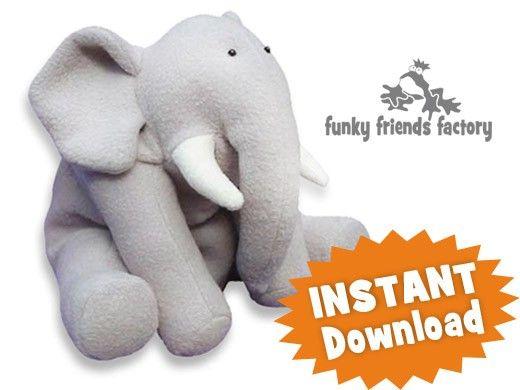 Ellie Elephant INSTANT DOWNLOAD Sewing Pattern PDF