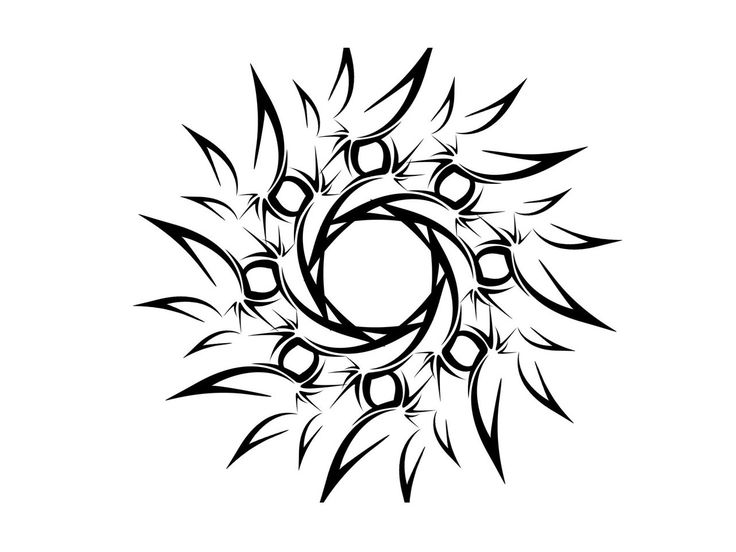 simple male tattoo designs | Free designs - Tribal sun simple tattoo wallpaper