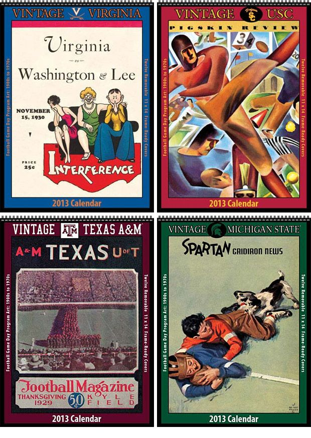 2013 Vintage College Football Calendars