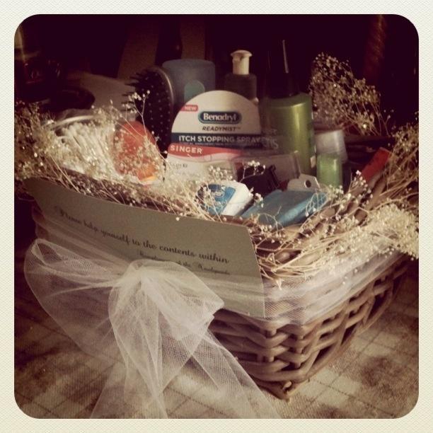 Bathroom Baskets: Ladies/Gents Bobby Pins, Hairspray