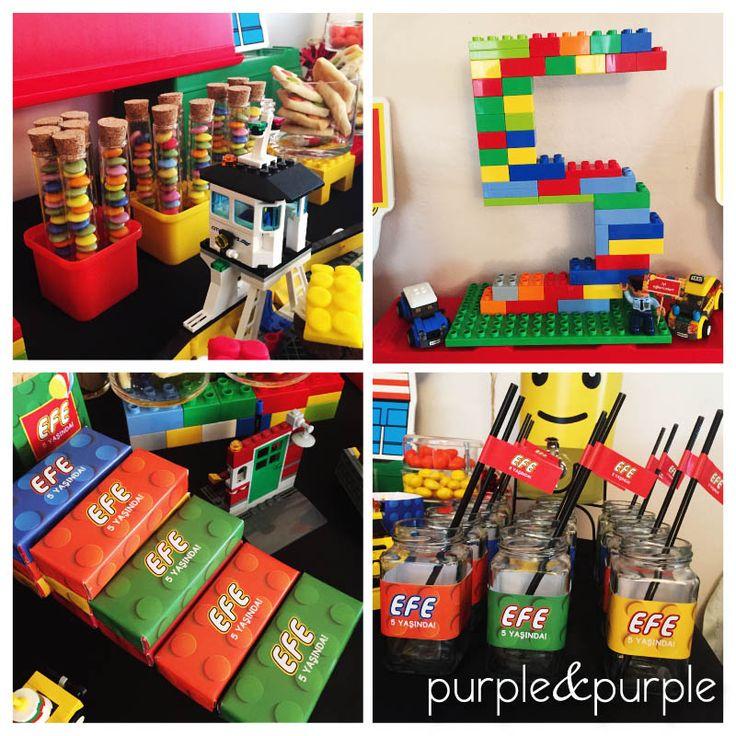 lego temali dogum gunu fikirleri | Lego Temalı Şeker Büfesi | Lego temalı parti masası | 5 yaş doğum günü partisi | Lego temalı parti süsleri