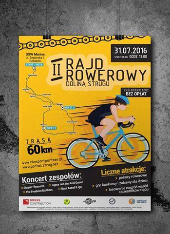 #Plakat - jeden z materiałów promujących II #Rajd #Rowerowy Doliny Strugu