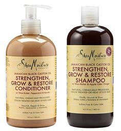 Shea Moisture - Jamaican Black Castor Oil Shampoo 16.3 oz & Conditioner 13 oz Set - http://amzn.to/2foBdor