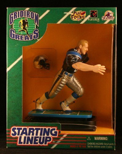 KEVIN GREENE / CAROLINA PANTHERS 1997 NFL GRIDIRON GREATS Starting Lineup Deluxe 6 Inch Figure by Kenner. $13.40. From Kenner.. Ages 4 and up.. KEVIN GREENE / CAROLINA PANTHERS 1997 NFL GRIDIRON GREATS Starting Lineup Deluxe 6 Inch Figure. Originally released in 1997 - Retired / Out of production.. Displayed figure stands approximately 7 inches tall on customized display base. Includes team helmet.. KEVIN GREENE / CAROLINA PANTHERS 1997 NFL GRIDIRON GREATS Starting Lineup D...