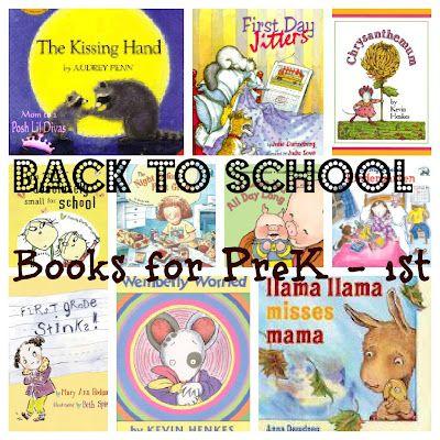 Mom to 2 Posh Lil Divas: Favorite Back to School Books for Preschool, Kindergarten and First Grade