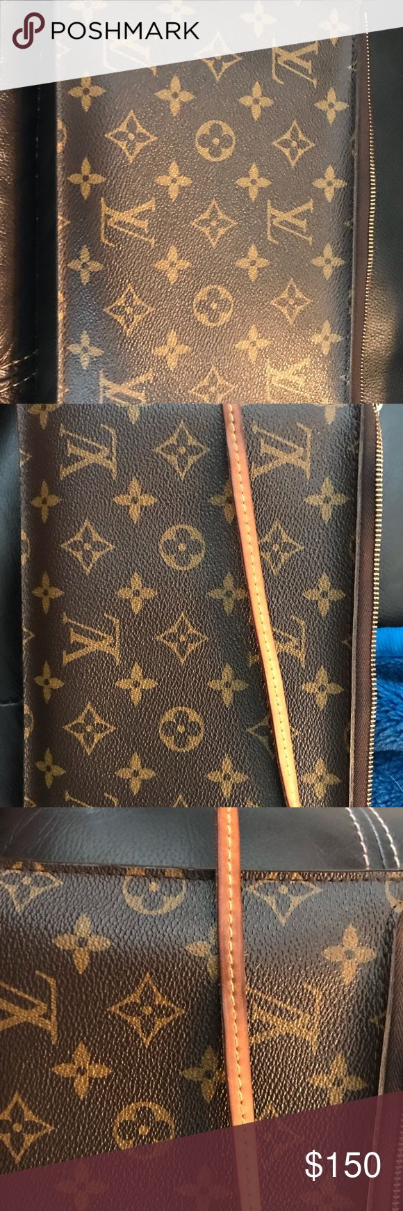 Authentic Louis Vuitton Wristlet **Authentic** Louis Vuitton wristlet. Came with my Neverfull MM picture of tag with serial number. Please ask questions before purchase. Louis Vuitton Bags Clutches & Wristlets