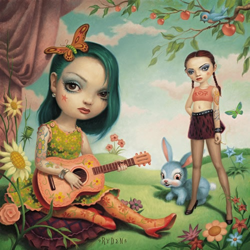 I have this in my office! Mark Ryden The Girls