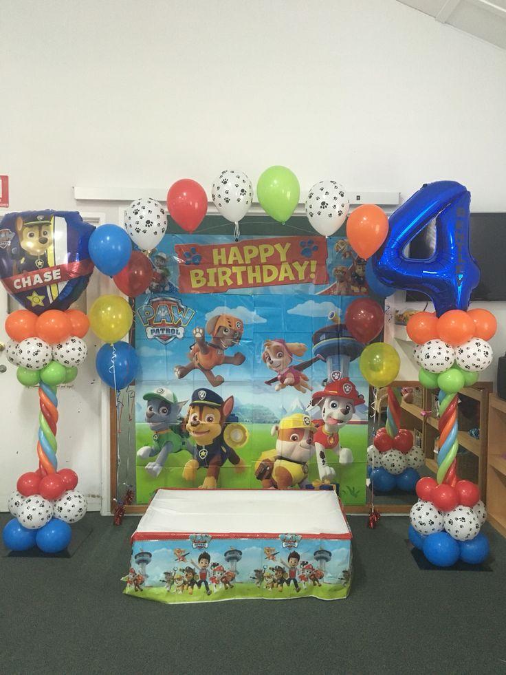 Paw Patrol 4th Birthday Balloon Arch