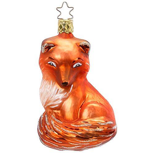 386324 Inge-Glas Glass Of Germany Kit Fox Ornament