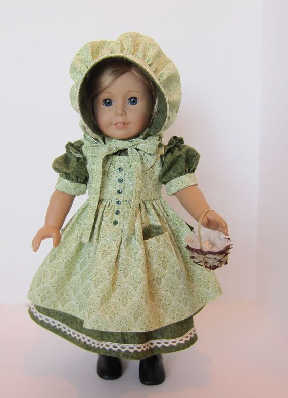 American Girl Doll: Green Prairie Girl by SewSpecialByBarb on Etsy