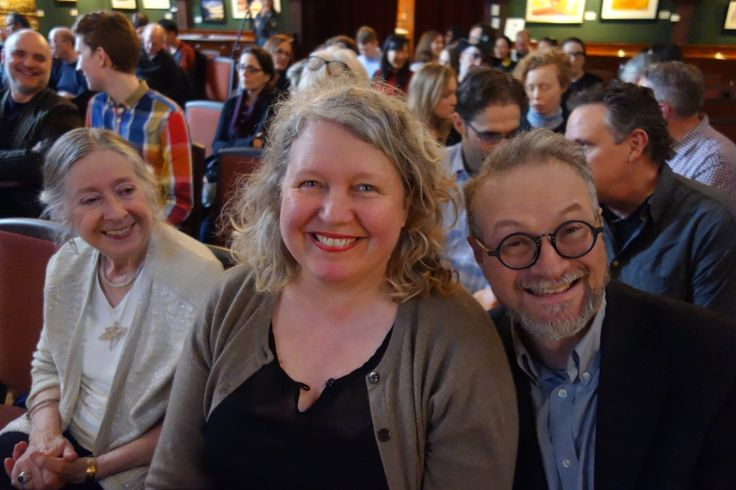 Camilla Gryski, Michelle Walker, and George Walker at Paul Shaw's talk at the Arts & Letters Club in Toronto, March 2017. Credit: Don McLeod.