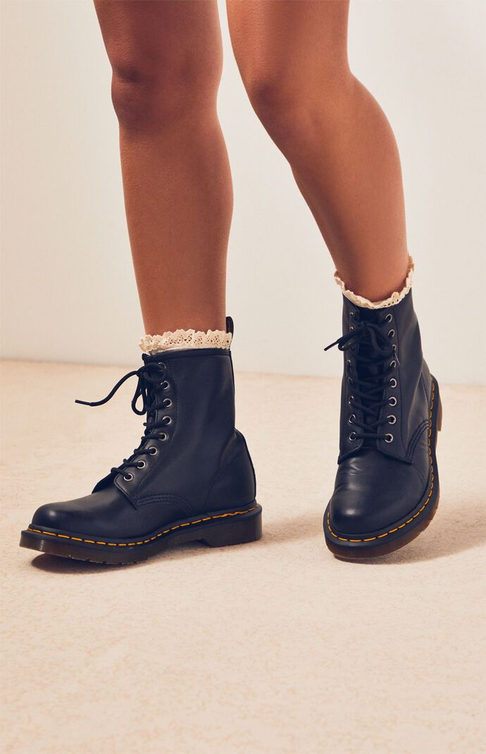 Dr Martens Black Nappa Leather Boots in
