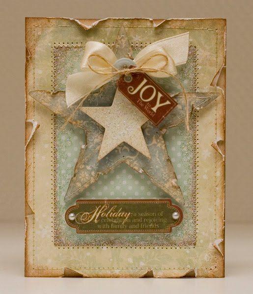 "Journal inspiration - Inked ""Joy"" Card...with stars."