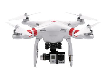 DJI Phantom 2 teamed with a GoPro Hero 3 and Gimbal.  Want.