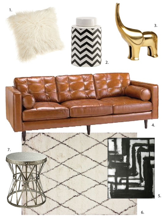 One Design, Two Budgets: Swank 70s Living Room