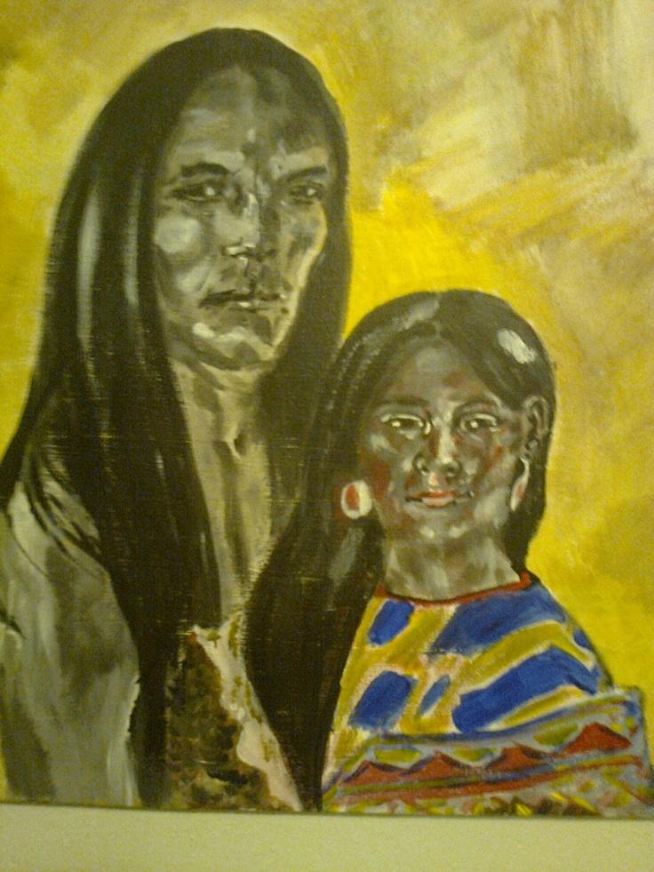Young Native Americans, from Art By Hansen, DK.  www.facebook.com/artbyhansen