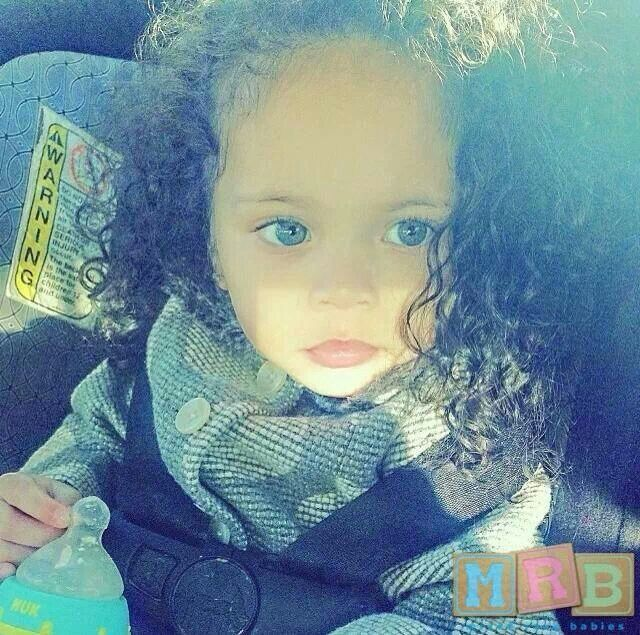 Mixed Baby Girl With Green Eyes African American, Fili...