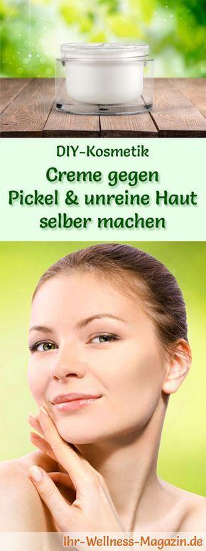 Creme gegen Pickel und unreine Haut selber machen – Rezept und Anleitung