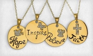 Groupon - $19 for an Inspirational-Pendant Necklace ($99 List Price). Four Styles Available. Free Shipping and Free Returns. in Online Deal. Groupon deal price: $19.00