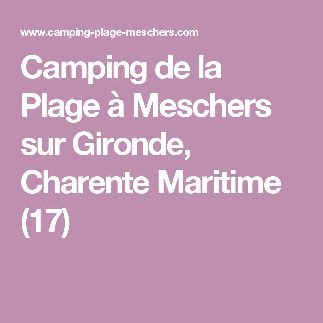 Camping de la Plage à Meschers sur Gironde, Charente Maritime (17)
