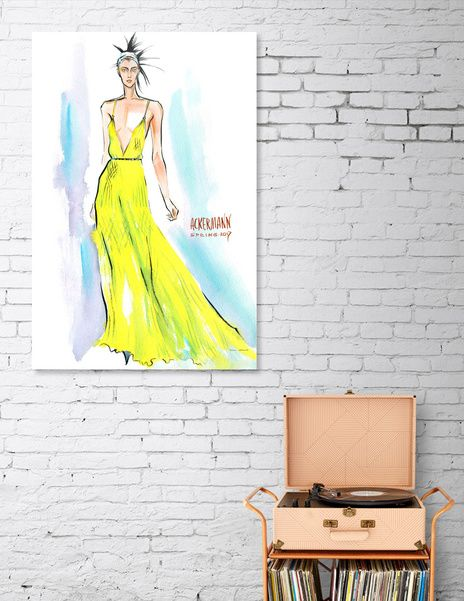 Discover «A woman in a long yellow dress», Limited Edition Acrylic Glass Print by Irina Ivanova - From $99 - Curioos