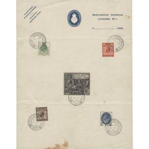 Great Britain 1929 (FDC) Postal Union Congress