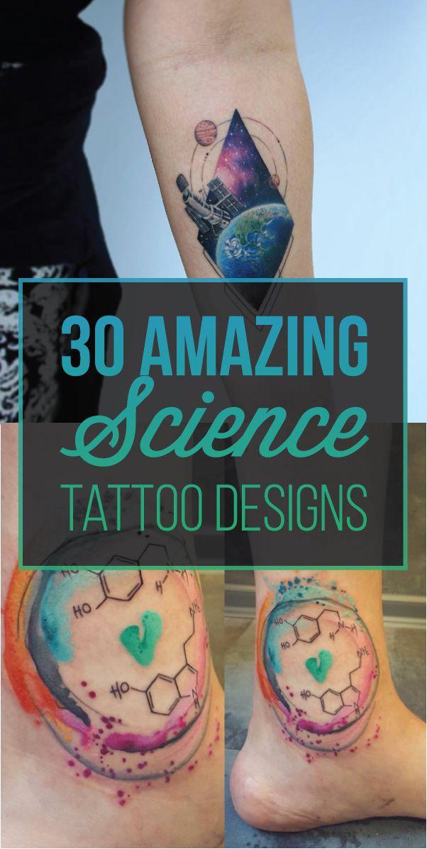 30 Amazing Science Tattoo Designs | TattooBlend