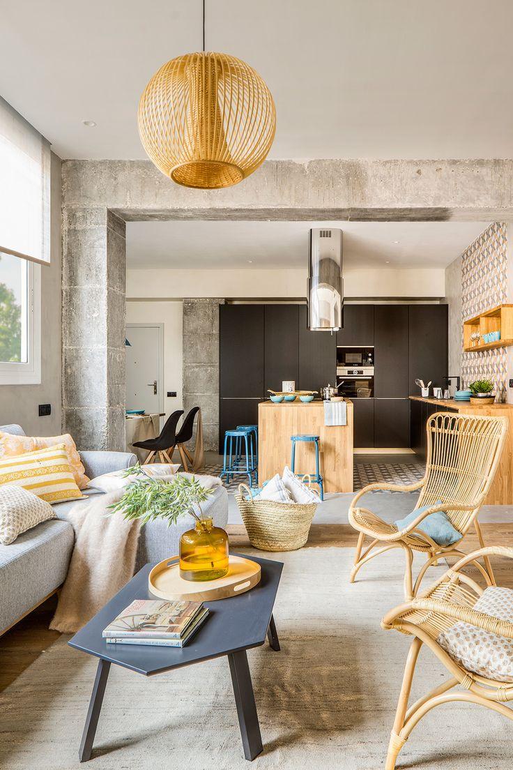 ¿Te atreves con el hormigón? Estructura vista como parte del interiorismo de tu casa.