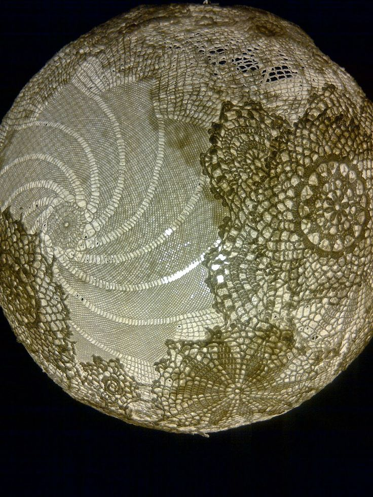 How to make this hanging Doily Lamp