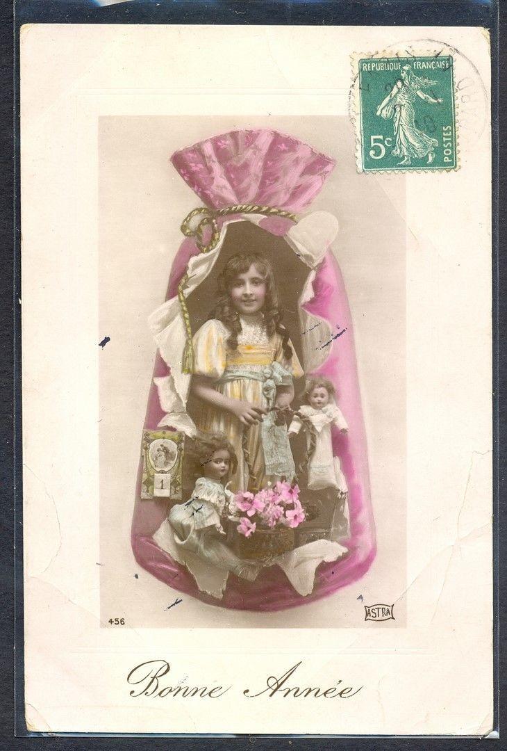 NV104 SURREALISME FANTASY FILLETTE Poupée SAC GIRL DOLL BAG PHOTO MONTAGE pc in Collections, Cartes postales, Thèmes | eBay