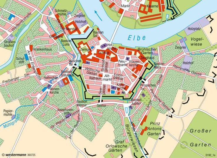 Dresden | Innenstadt | Deutschland - Historische Stadtentwicklung | Karte 75/5