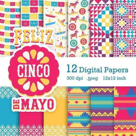 Geef uw ontwerpen een samenhangend en professionele uitstraling met onze Cinco de Mayo digitale scrapbooking kit. 12 digitale scrapbook papers voor digitale scrapbooking, cardmaking en ambachten. 300 dpi beelden van hoge kwaliteit.  Deze Cinco de Mayo-Digital Scrapbooking-Kit is een verzameling van digitale papers en decoratie alle gecentreerd rond deze leuke Mexicaanse viering. Inbegrepen in de kit zijn 10 transparante PNG-bestanden voor overlays…