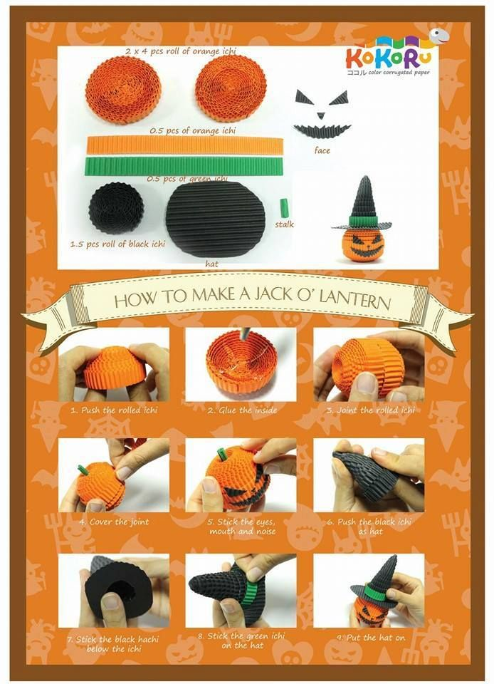How to make Jack O-Latern from Kokoru Facebook Page