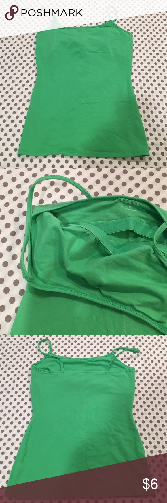 Express Tanktop Spaghetti strap green tank top with built in bra from Express Express Tops Tank Tops