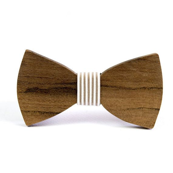 Handmade Wooden Bow Tie for HIM    Adjustable by DoubleOwoodcrafts