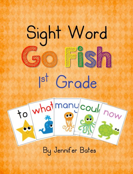 Finally in First: Sight Word Go Fish Giveaway