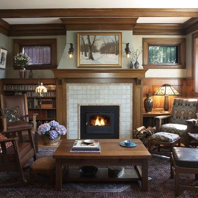 Top 25 ideas about fireplace redo on pinterest for Mission living room ideas
