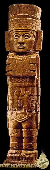 Atlante. Cultura Tolteca (Tula, México) Autor: Fecha: 900-1250 Museo: Museo Nacional de Antropología de México Características: 4,60 m altura Estilo: Material: Basalto