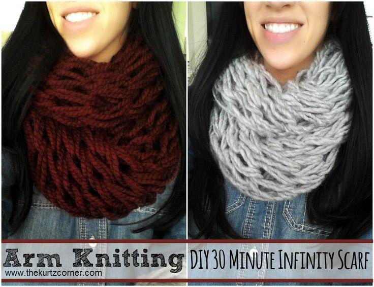 The Kurtz Corner: Arm Knitting - DIY 30 Minute Infinity Scarf