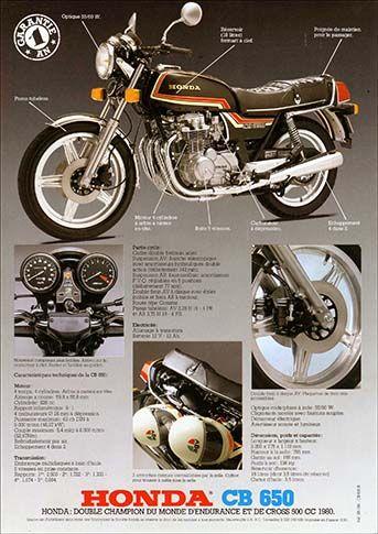 23195. - MOTORCYCLE - HONDA 1981 - CB 650 - Garantie 1 AN - 29x41-.