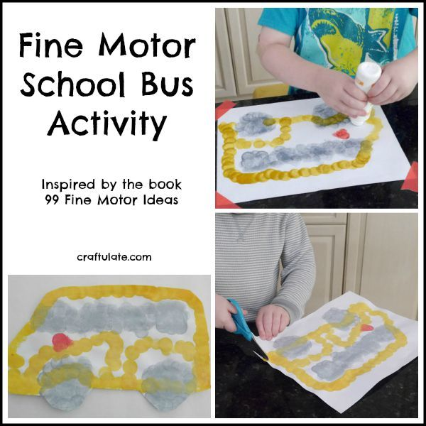 25 best images about bus crafts for kids on pinterest for Fine motor activities for kindergarten